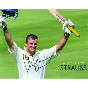 Andrew Strauss - Autograph - Signed Colour Photograph