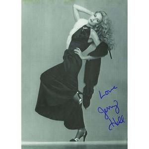 Jerry Hall - Autograph - Signed Black and White Photograph