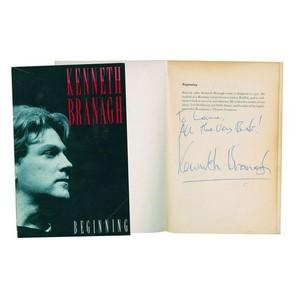 Kenneth Branagh 'Beginning' - Signed Autobiography
