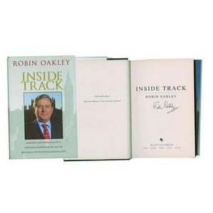 Robin Oakley 'Inside Track' -  Signed Book