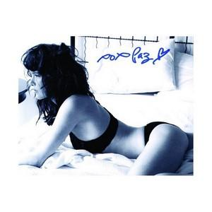 Paz De La Huerta - Autograph - Signed Black and White Photograph