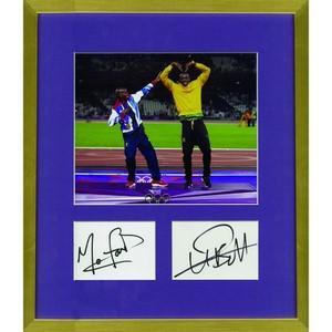Usain Bolt & Mo Farah - Autographs - Framed