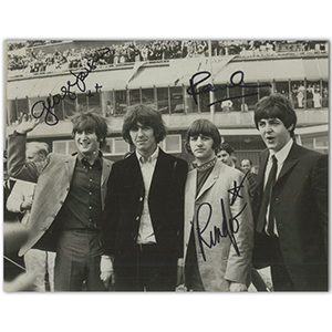 The Beatles Autographs - Signed Black and White Photograph (Framed)
