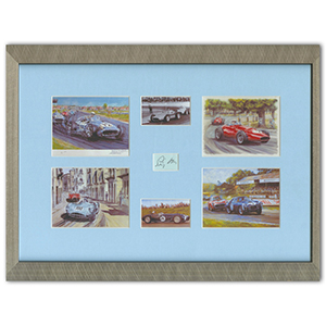 Stirling Moss Signature - Framed