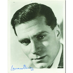 Laurence Olivier Autograph Signed Photograph