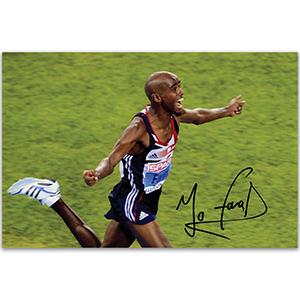 Mo Farah - Autograph - Signed Colour Photograph