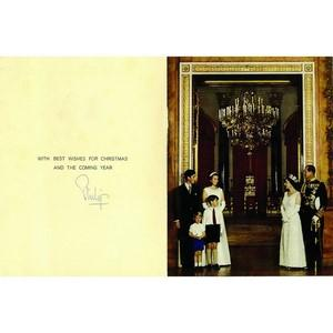 Prince Philip Duke of Edinburgh Signature - Signed Christmas Card