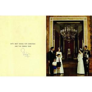 Prince Philip Duke of Edinburgh Signature - Signed Christmas Card
