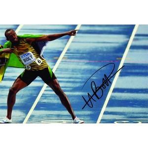Usain Bolt - Autograph - Signed Colour Photograph