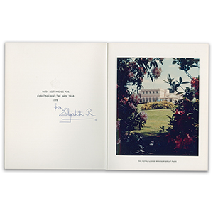 HM Queen Elizabeth, The Queen Mother Signature - Signed Christmas Card