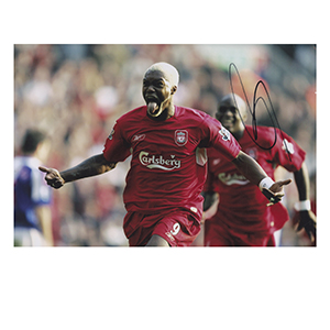 Djibril Cisse - Autpgraph - Signed Colour Photograph