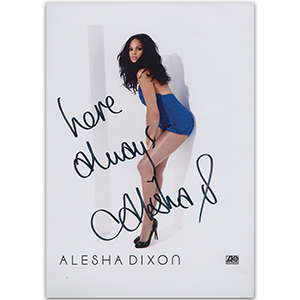 Alesha Dixon - Autograph - Signed Colour Photograph
