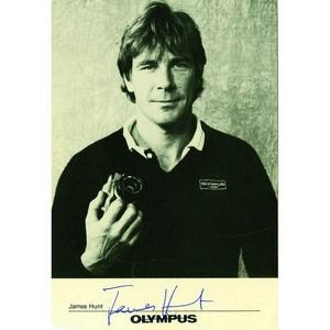 James Hunt - Autograph -  Signed Black and White Photograph