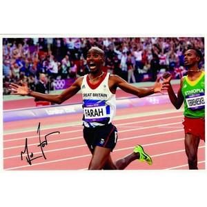 Mo Farah - Autograph - Signed Colour Photograph