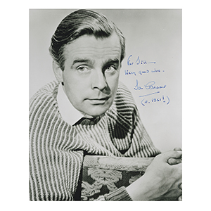 Ian Carmichael - Autograph - Signed Black and White Photograph