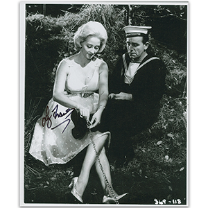 Liz Fraser - Autograph - Signed Black and White Photograph