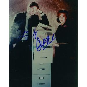 David Duchovny and Gillian Anderson - Autograph - Signed Colour Photograph