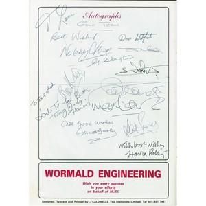 Manchester United FC Golf Team 1987 Autographs