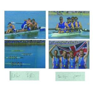 James Cracknell, Matthew Pinsent, Tim Foster & Steve Redgrave - Autograph - Colour Photographs