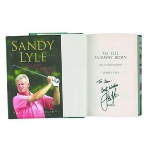 Sandy Lyle - Autograph - Signed Book