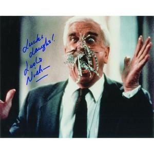 Leslie Nielsen - Autograph - Signed Colour Photograph