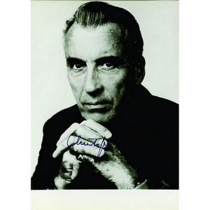 Christopher Lee - Autograph - Signed Black and White Photograph