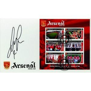 Patrick Vieira Signed Arsenal FC Stamp Sheet -  Grenada