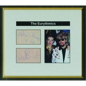 The Eurythmics Autographs - Black and White Photograph
