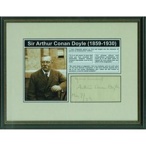 Arthur Conan Doyle Signed Album Page 1923
