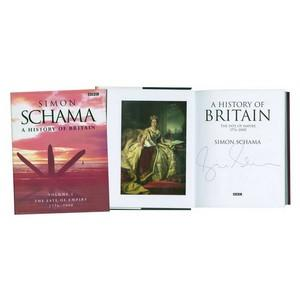 Simon Schama Signed Book 'History of Britain'