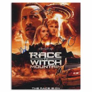 Race to Witch Mountain Reproduction Poster Signed by Cast Inc Dwayne Johnson