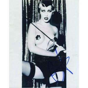Christina Aguilera - Autograph - Signed Black and White Photograph