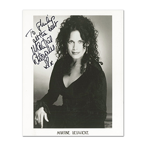 Martine Beswick Autograph Signed Photograph