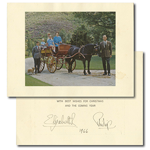 Queen Elizabeth II & Prince Philip - Signed Christmas Card