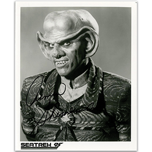 Armin Shimerman - Autograph - Signed Black & White Photograph