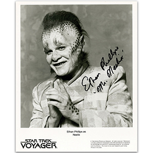 Ethan Phillips - Autograph - Signed Black and White Photograph