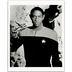 Tim Russ - Autograph - Signed Black and White Photograph