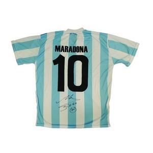 Diego Maradona Signed Shirt. COA