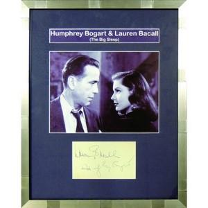Humphrey Bogart & Lauren Bacall - Autpgraph - Signed Black and White Photograph