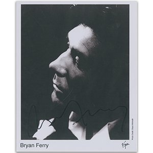 Bryan Ferry - Autograph - Signed Black and White Photograph