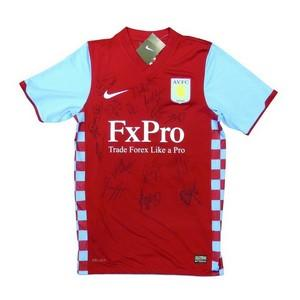 Aston Villa 2011/2012 - Autograph - Signed Shirt
