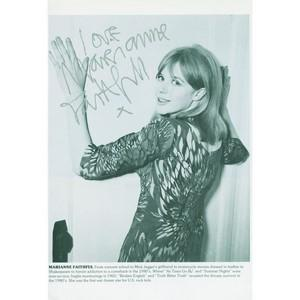 Marianne Faithful - Autograph - Signed Black & White Photograph