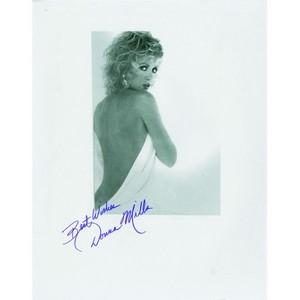Donna Mills - Autograph - Signed Black and White Photograph