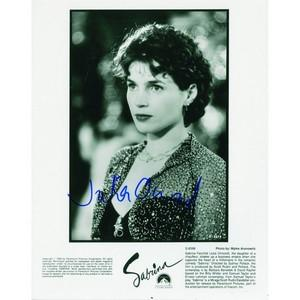 Julia Ormond - Autograph - Signed Black and White Photograph