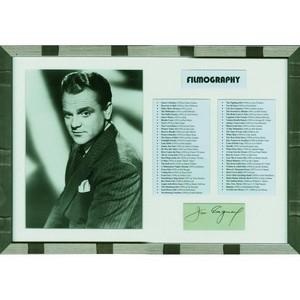 James Cagney (Framed) - Autograph - Signed Black and White Photograph