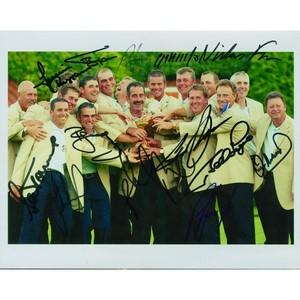 2002 Ryder Cup Europe Signed Autographed Colour Photograph