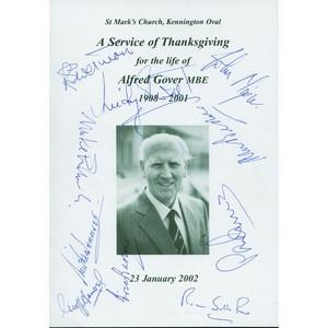 Cricket Multi signed (Alec & Eric Bedser plus 9) - Autograph
