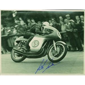 John Surtees - Autograph - Signed Black and White Photograph