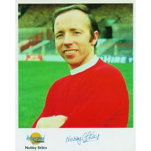 Nobby Stiles - Autograph - Signed Colour Photograph