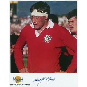 Willie John McBride - Autograph - Signed Colour Photograph